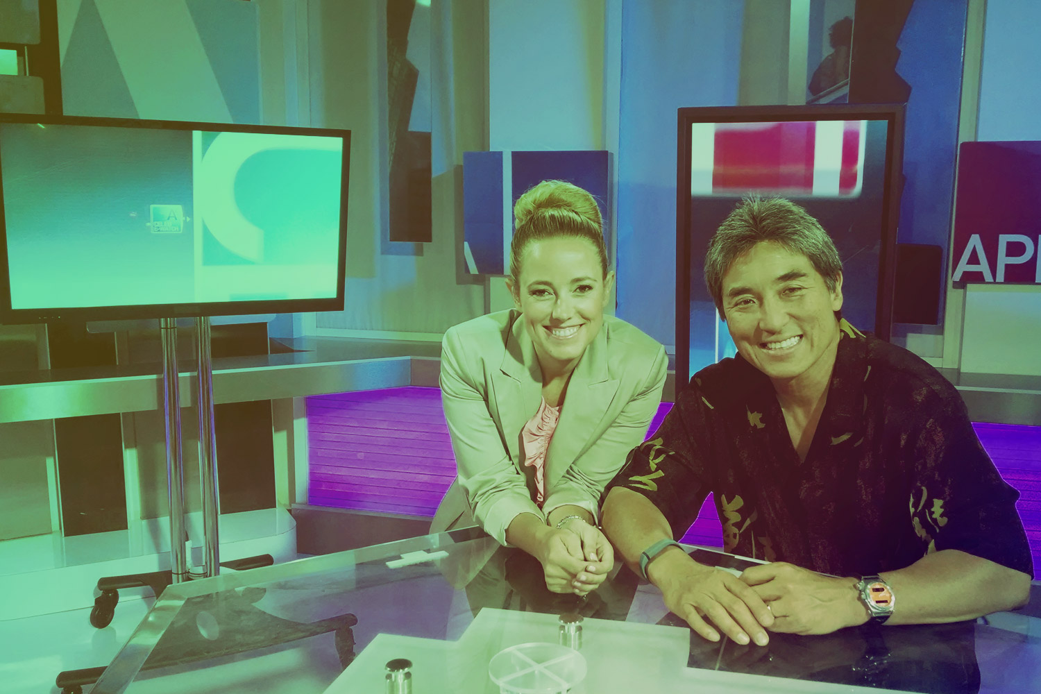 Amber MacArthur with Guy Kawasaki