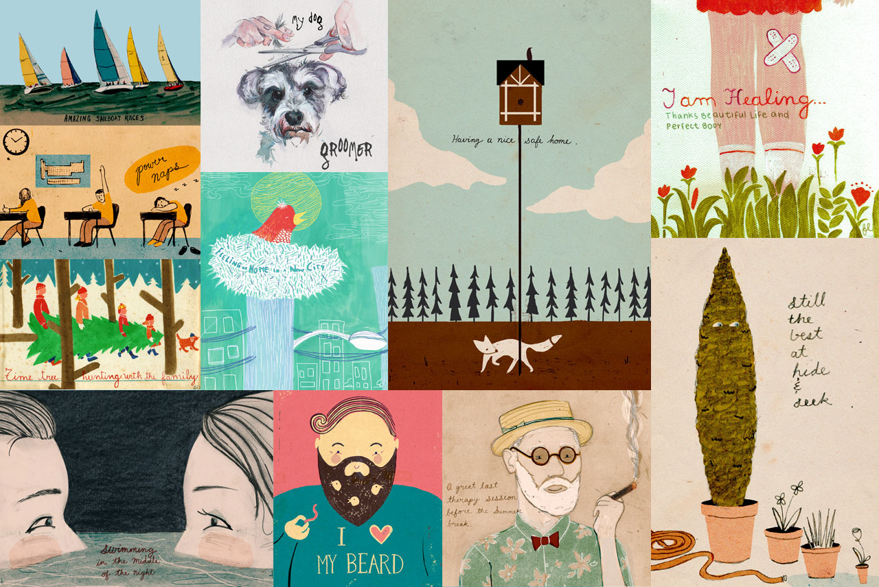 Ayla Newhouse 1Thing app illustrations