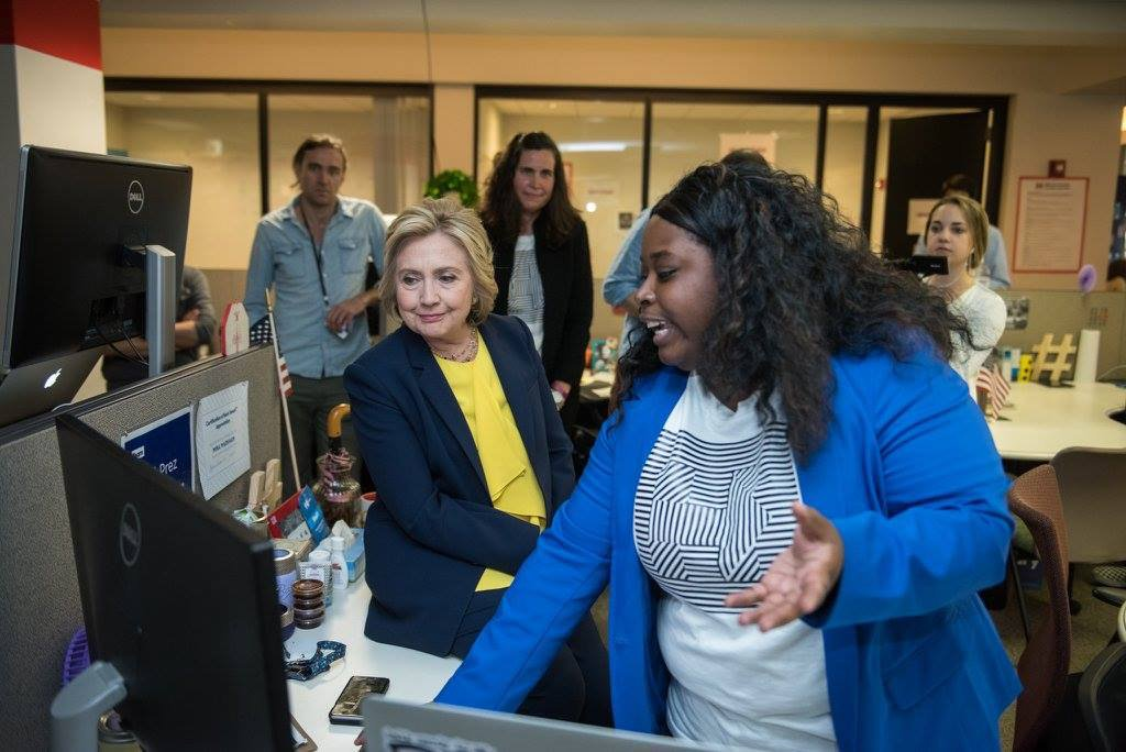 Hillary Clinton visiting the office